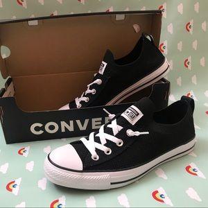 Black converse stretch slip on. New in box